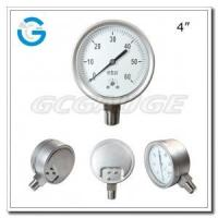 """China 4"""" Capsule low all stainless steel bottom connection low pressure gauges wholesale"""