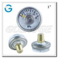 Buy cheap 1 Inch spiral bourdon tube 25 mm gauges with copper alloy back connection from wholesalers