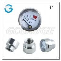 Buy cheap 1 Inch Chrome-plated brass small miniature 25mm gauge with customized thread from wholesalers