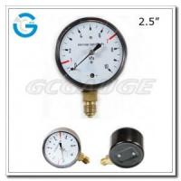 "2.5"" Medical system black steel lower mount single diaphragm medical manometer Manufactures"