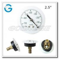"2.5"" Medical system black steel central mount single diaphragm medical pressure gauges Manufactures"