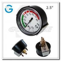 "2.5"" Medical system black steel back entry low pressure indicator with U-clamp Manufactures"
