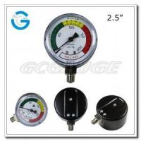 "2.5"" Medical system black steel bottom mount single diaphragm medical pressure gauge Manufactures"