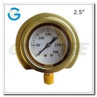 Buy cheap Brass pressure gauges with flange type Bottom connection from wholesalers