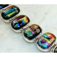 China Dichroic Glass Bracelet on sale