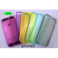 ultrathin colorful glossy and clear tpu soft case for iphone5