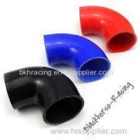 "China 4"" to 3"" Black 90 degree Reducer Elbows Silicone Hose 102mm to 76mm wholesale"