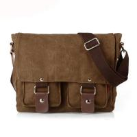 China Daily use 16 Oz canvas men two sided over the shoulder bag wholesale