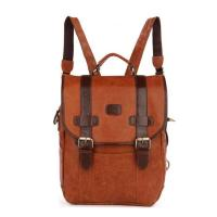 China factory wholesale custom leather high school backpack for girls Manufactures