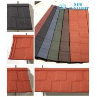 China Shingle Type Corrugated Colour Stone Coated Steel Roofing Sheets Metal Roofing Materials on sale