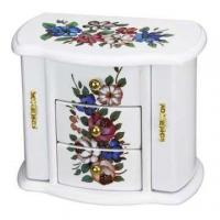 China Ballerina Wooden Jewelry Box with Music on sale