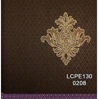 Good Quality Deep Embossed Living Walls Simple Design Pvc Wallpaper LCPE130-0201 Manufactures