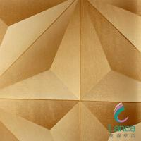 China Plastic TV Background Wallpapering Textured Wave Board 3d Wallpaper LCPE070P-17022 on sale