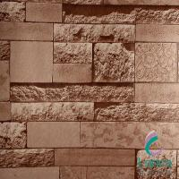3D Modern Pvc Brick Designs Waterproof Hotel Room Wallpaper LCPX047WJ206-3 Manufactures