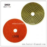 China 100mm white or green Wet Polishing Pads for Concrete on sale
