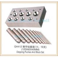 2016 18pcs a set dapping puches & block set Steel Channel Dapping Punches Manufactures