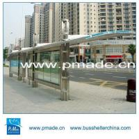 Modern Design Outdoor Advertising With Scrolling Lightbox Bus Shelter LED Solar Manufactures
