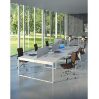 modern home office desks Simple desigb office conference table,white long table BOD-002 Manufactures