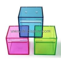 Hot selling acrylic hanging tissue box acrylic box display box tissue paper DBS-128 Manufactures