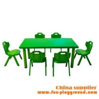 China Commercial used kindergarten equipment students table and chairs on sale
