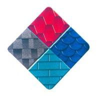 China Colored fiberglass asphalt shingles on sale