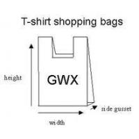 China HDPE/LDPE Plastic t-shirt shopping bag wholesale