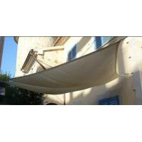 China Decorative Sunshine Outdoor Shade Sail Fabric For Garden , Beige Color on sale