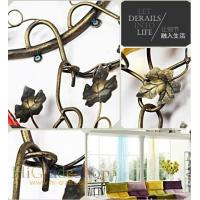 China Wall-mounted Iron Wine Rack Wall-hanging Style design Home decoration Metal craft on sale