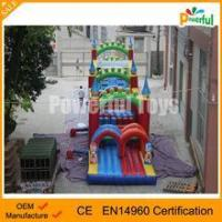 giant outdoor inflatable castle obstacle course for kids Manufactures