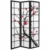 6 ft. Tall Canvas Cherry Blossom Room Divider Manufactures