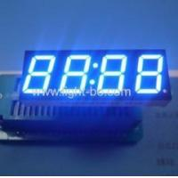 China Ultra blue 0.56 4 digit 7 segment led clock display common anode for home appliances on sale