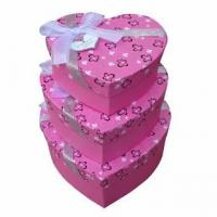 China CC-PBX061 Handmade paper gift boxes with bowknot wholesale