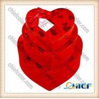 China CC-PBX107 Luxury heart shape red chocolate packaging wholesale
