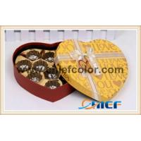 CC-PBX480 Golden heart shaped chocolate customized box Manufactures