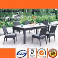 China HL6016 Modern rattan dining set with 6 seats home garden furniture on sale