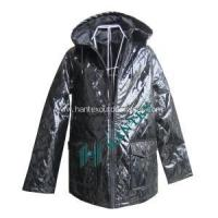 Ladies Fashion Faux Leather Jacket With Cotton Manufactures