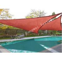 China Red Sun Shade Sail UV Top Outdoor Canopy Patio Lawn Garden Pool 12'or 16 or 18 on sale