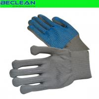 Cleanroom wipe BE-GL0692Palm PVC doted glove Manufactures