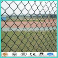 factory supply galvanized and PVC coated golf boundary chain link fence cyclone fence Manufactures