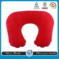 China O-shape PVC Flocking Inflatable Pillow on sale
