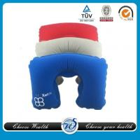 China Inflatable flocked neck pillow on sale