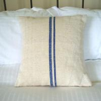 China French Stripe Printed Linen Cushion Cover CL-009 on sale