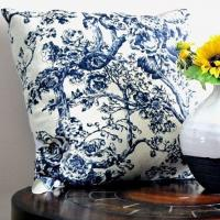 China Old Tree Fashioned Screen Printed Linen Cushion Cover CL-016 on sale