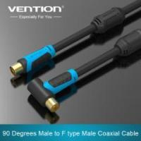 Vention 90 Degrees Male to F type Male Coaxial TV Satellite Antenna Cable Manufactures