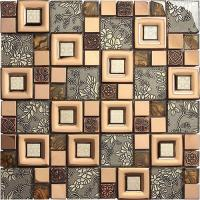 China mixed glass mosaic tiles on sale