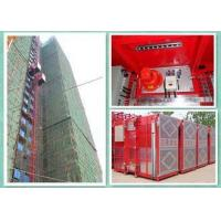 High Efficiency Construction Material Hoist , Building Site Lifting Heavy Equipment Twin Cage Manufactures