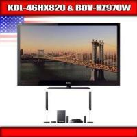 China Sony KDL-46HX820 - 46 BRAVIA 3D LED-backlit LCD TV + Sony BDV-HZ970W - 5.1 Channel Home Theater sys on sale