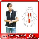 China Apparel Fashion Waistcoat For Men Design with electric heating system heated clothing warm OUBOHK wholesale