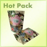 China 16oz Clear Window Kraft Paper Stand Up Bag Packaging For Pistachios Multi Colored wholesale