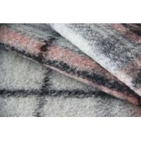China Classical Pink And Grey Tartan Fabric For Mens Colored Blazers 515G / M wholesale